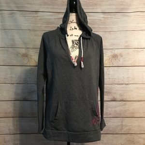 Roxy Size XL Grey/Pink Pullover Hoodie
